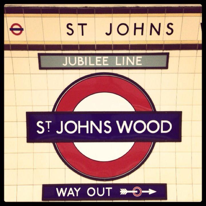 St. John's Wood London Underground Station in St John's Wood, Greater London