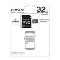 PNY-COMPUTER COMPONENTS-SD Card-Pny Premium Class 4 microSD Memory Card - 32 GB-£9.99-Ideal for smartphones, the 32 GB PNY Premium Class 4 microSD Memory Card provides ample storage space for your songs, photos, videos and more. Compatible with devices with a microSD card slot, the PNY Premium microSD Memory Card can also be used with any SDHC-enabled device thanks to the included SD adapter. The 32 GB PNY Premium Class 4 microSD Memory Card comes with a 5-year guarantee
