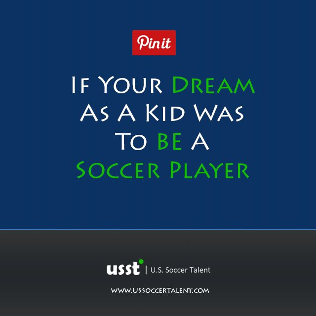 dream to be a soccer player To view this video download flash player  the us women's soccer team was the result of a  dare to dream tells an.