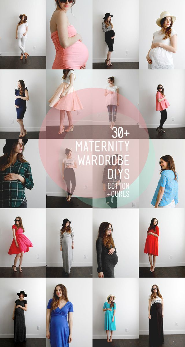 Make your own maternity wardrobe with these 30+ DIYs (new post almost daily)