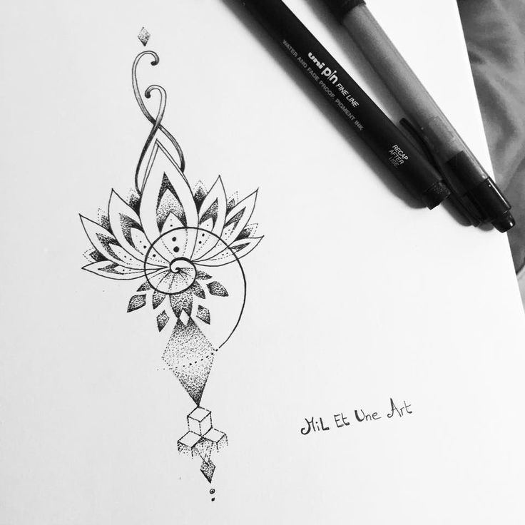 """2017 trend Tattoo Trends - Check out this @Behance project: """"Dotwork lotus tattoo design"""" www.behance.net/...."""