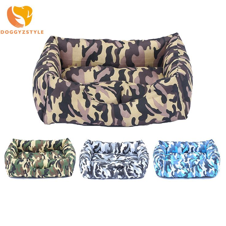 Winter Warm Dog Bed Sofa Washable Dogs Camouflage Kennel Pet Cat House Pad Puppy Dog Mat Cushion for chihuahua DOGGYZSTYLE