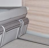 Brandrup T5 VW CALIFORNIA Bench seat/bed side left pocket side Crete Anthracite
