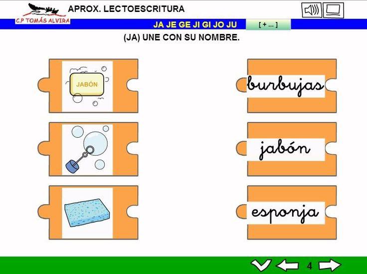 MATERIALES - Aproximación a la lectoescritura: P -L - M - S - T - N - Ñ - F - D - B - V - R (fuerte y suave) - C - K - Q - H - CH - Z- CE - CI - G (suave) - GÜ - GE - J.  Libros interactivos multimedia (LIMs) de actividades de aproximación a la lectoescritura para Educación Infantil y 1º ciclo con pictogramas de ARASAAC y fotos en letra cursiva Escolar 2.  http://arasaac.org/materiales.php?id_material=1061