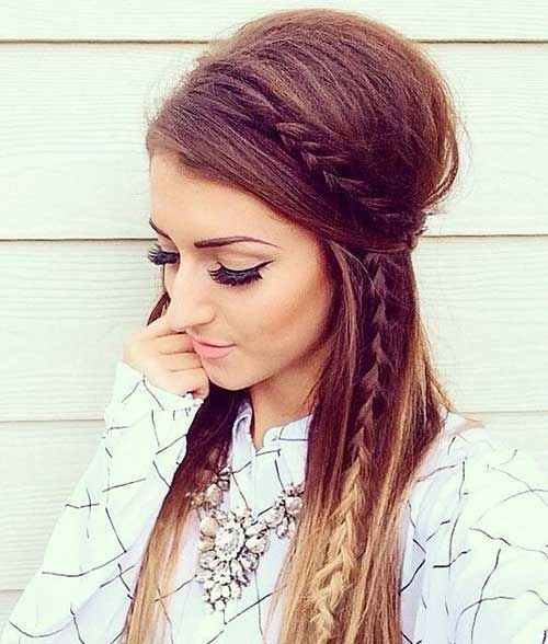 Easy Braid Hairstyles cute easy hairstyle to do when in a hurry 10 Beautiful Hairstyle Ideas For Long Hair 2017 Women Long Hairtyles Easy Braided