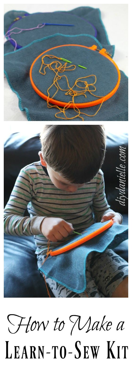 DIY Learn to Sew Kit for Kids: Reusable, Affordable Alternative to Electronics