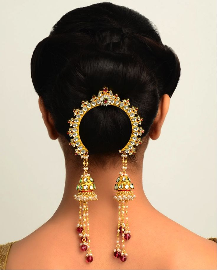 #Indian #hair #jewelry - beautiful indian bridal jewellery , wedding jewellery http://www.bargainweddingstore.com