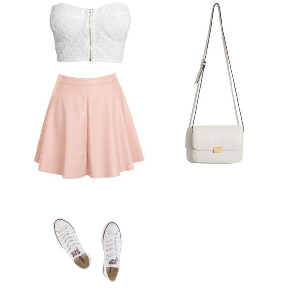 Sass or class¿ by darlingclothing on Polyvore featuring polyvore fashion style NLY Trend Glamorous Converse