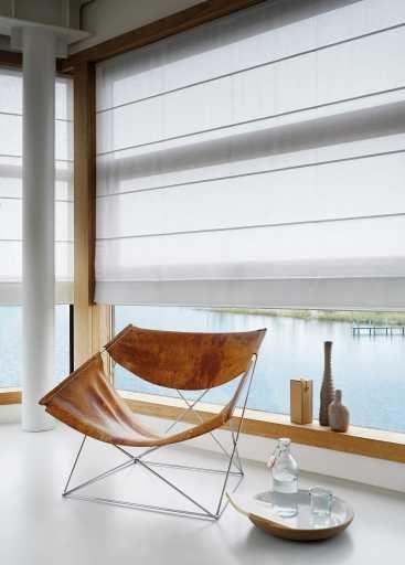Roman Shades #raambekleding #vouwgordijn #interieur