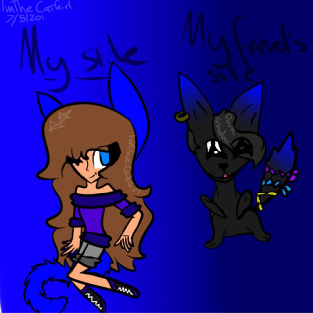 me and one of my friends styles!!!