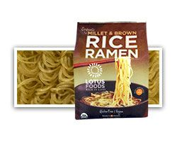 Probably not Paleo (Millet?) but Gluten free and a good cheat for Ai. Lotus Foods Organic Millet & Brown Rice Ramen (4 Ramen Cakes) - Lotus Foods brings you Millet & Brown Rice Ramen, traditional Japanese-style...