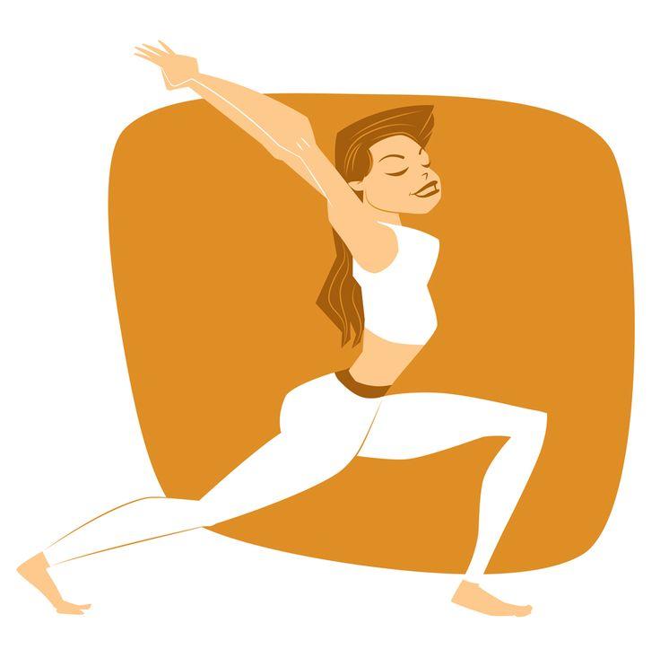 Yoga Project. Virabhadrasana I, Warrior 1 Pose.