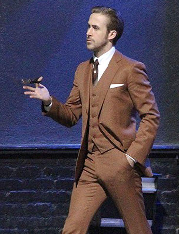 Ryan Gosling Brown La La Land Suit