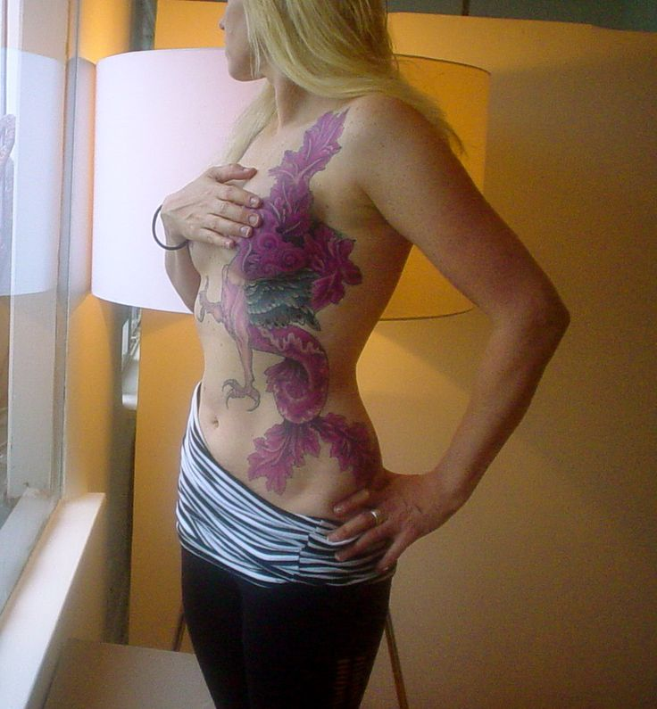 Tattoos Over Breast Cancer Scars Big Tattoo Planet Community Forum Design 814x880 Pixel