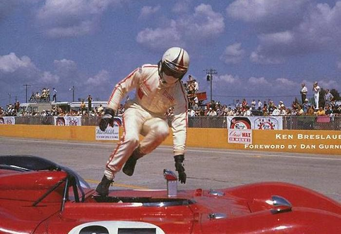 "Chris Amon ""Le Mans"" style start."