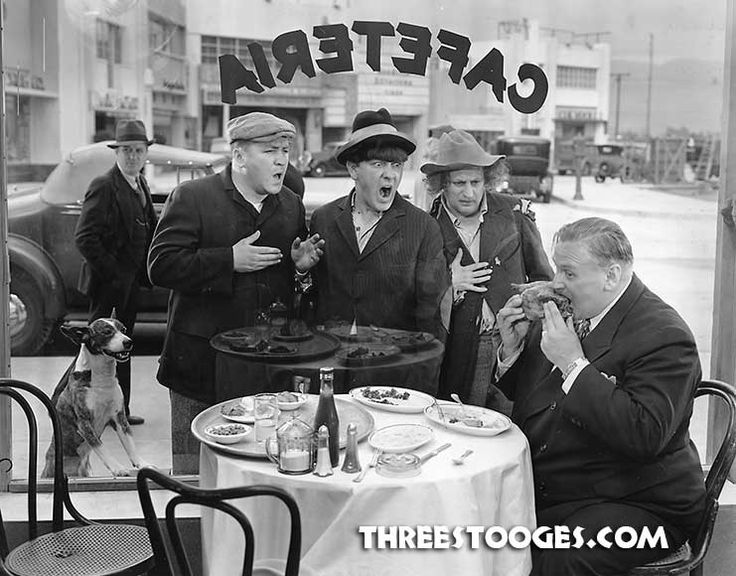 The Three Stooges with a canine co-star in Half-Shot Shooters. Curly was an avid dog lover who adopted and rescued dogs on the road finding them good homes or making them part of his family. #dogs #pets