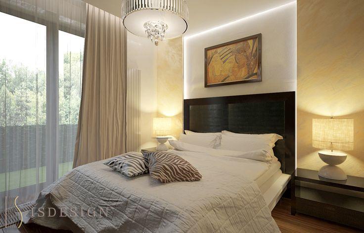 Спальная комната - дизайн проект интерьера четырехкомнатной квартиры в Праге. Архитектор-дизайнер Инна Войтенко.