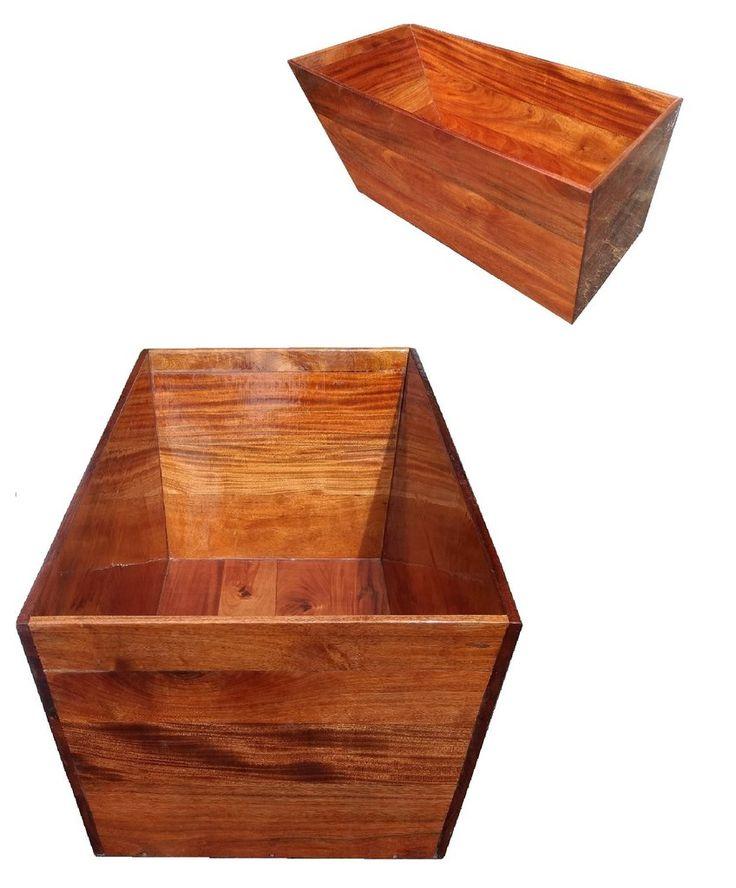 Mahogany Standalone Ofuro - Solid Wood Tub