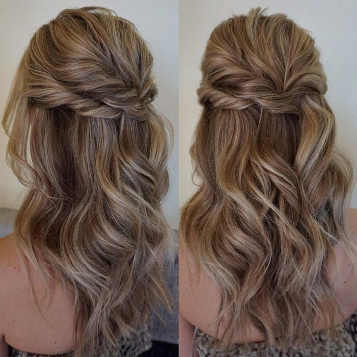 Pretty Half up half down hairstyles - partial updo wedding hairstyle is a great options for the modern bride from flowy boho and clean contemporary,half down half up braided hairstyle with curls,alf up half down straight hair #straighthair