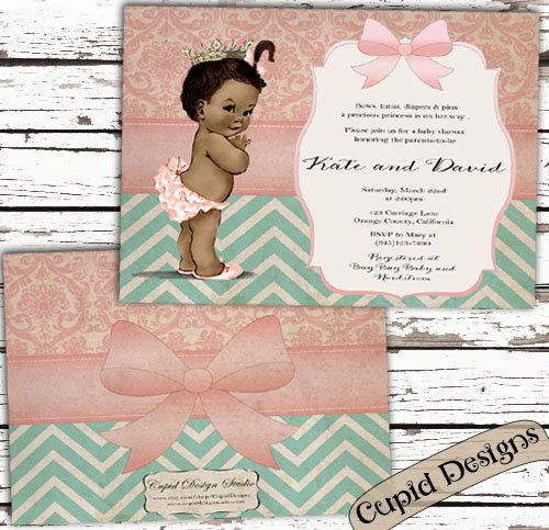 Över Bilder Om Baby Shower Invitations På - Vintage girl birthday invitation