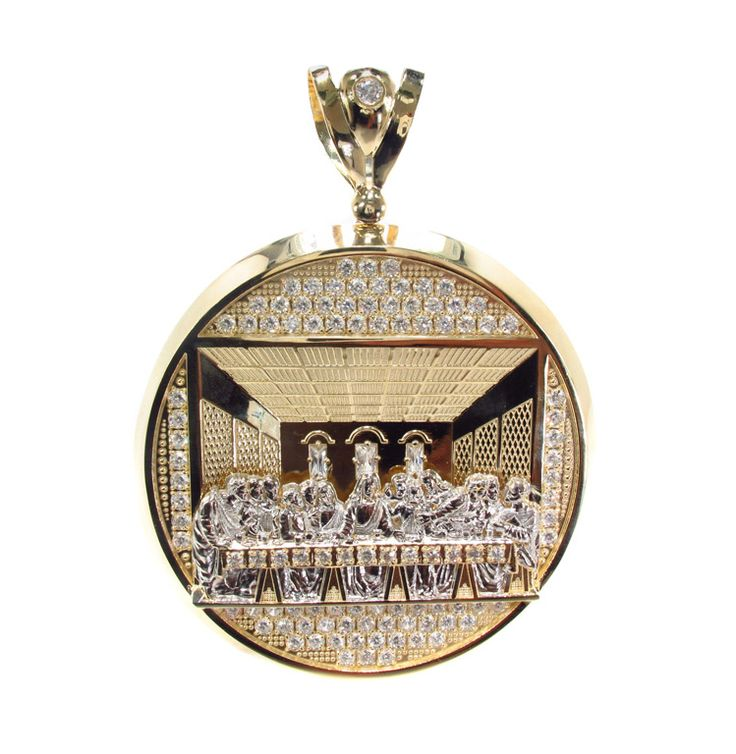 "<b>100</b> Grams <b>10K Yellow Gold</b> ""Last Supper"" Pendant. 