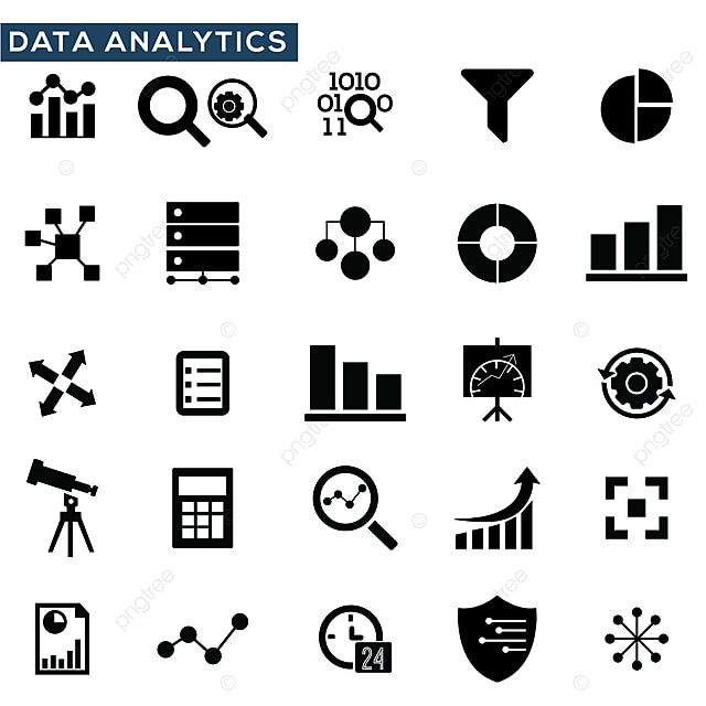 Data Analysis Icons Set Vector Illustration Icon Analysis Data Png And Vector With Transparent Background For Free Download