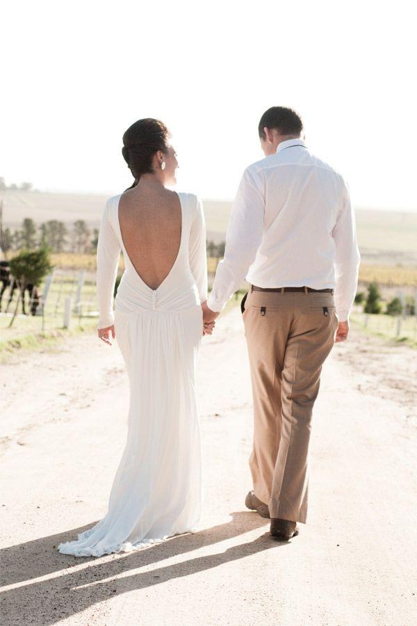 NICKY - Silk Jersey long sleeved dress with open back - Dress by Janita Toerien - www.janitatoerien.co.za