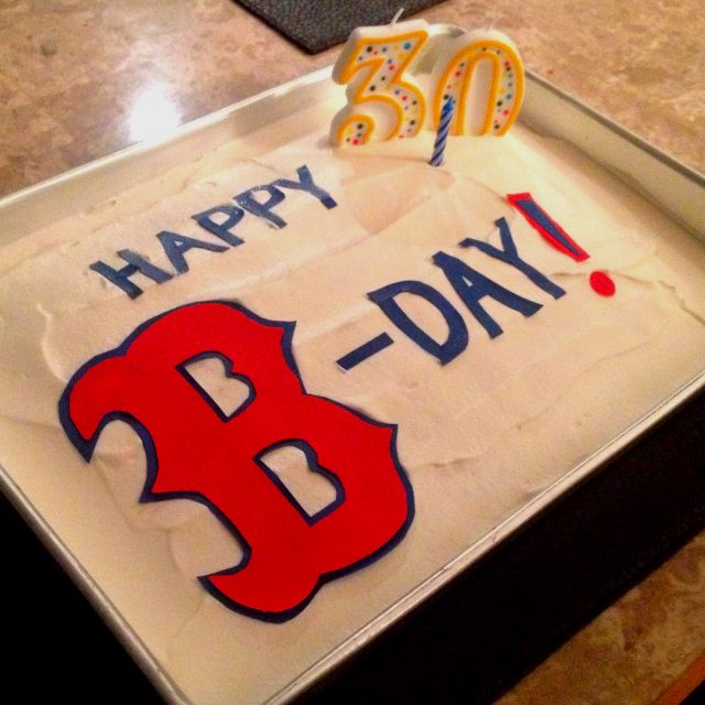 Chelsea's Red Sox birthday cake I made for her :)