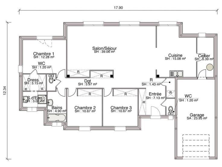 Construction Dune Maison Contemporaine De M Chambres Des Lignes Sobres