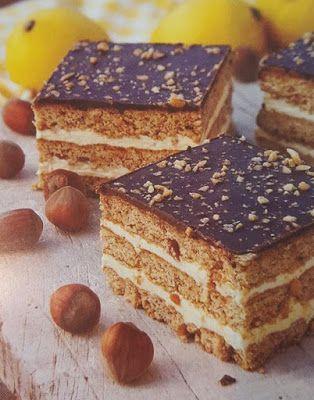 Receptek, és hasznos cikkek oldala: Citromkrémes-mogyorós szelet