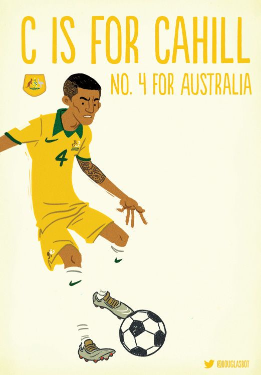 C is for Tim Cahill #worldcup2014