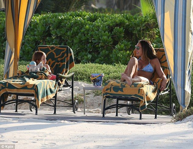 Girls holiday: The cute pair relaxed on their lavish holiday in Dubai, spending some time ...