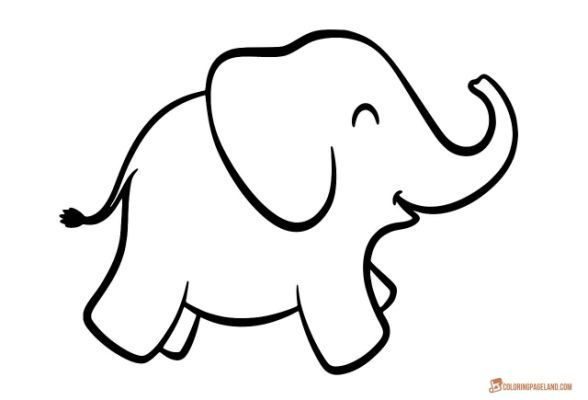 Coloring Pages Of Elephants Download Sewing Elephant