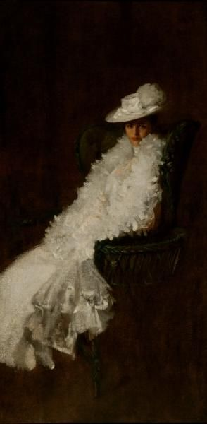 "William Merritt Chase: ""My Daughter Dieudonnée"", Oil on Canvas, 1902"