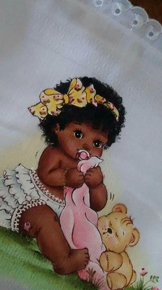 Bebe Negra Pinturas Beb Pinterest