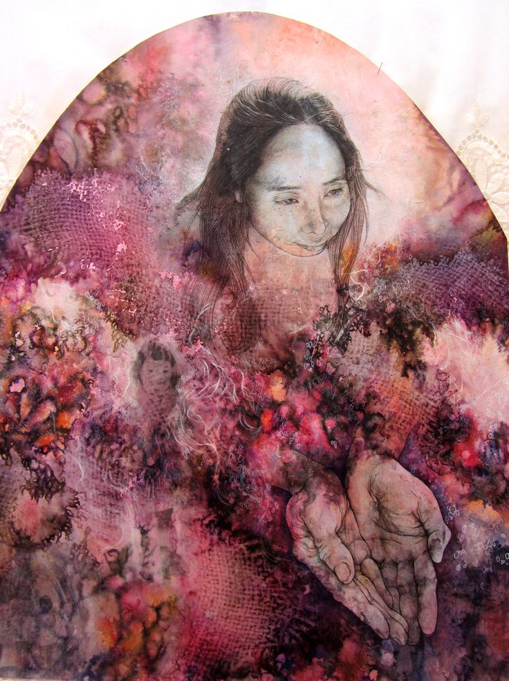 details: mother - 'My roots are all sick (Broken Heirlooms)', menstrual blood, earth, incense, mixed media on paper and fabric, 2012.