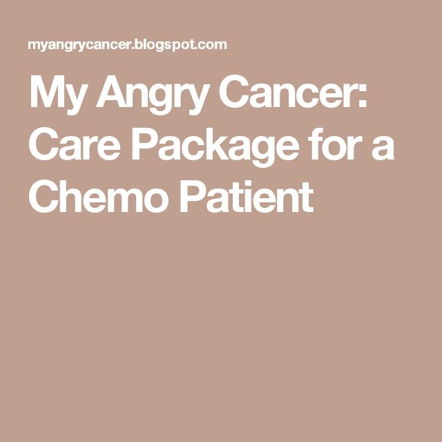 My Angry Cancer: Care Package for a Chemo Patient