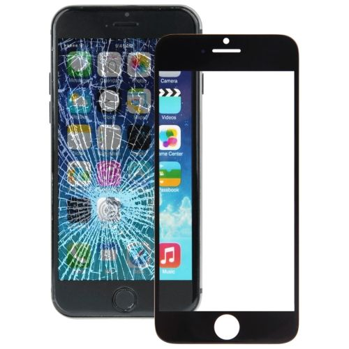 [USD1.24] [EUR1.15] [GBP0.89] iPartsBuy Front Screen Outer Glass Lens for iPhone 6(Black)