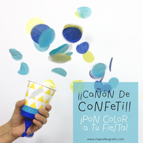 Cañón de confeti DIY