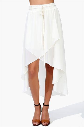 Chessy Chiffon Skirt - Ivory