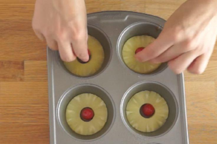 Un renversé à l'ananas? Rien de plus facile à faire! Surtout comme ça!