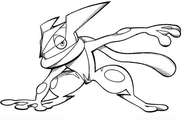 Coloring Pages Of Greninja Colorear Pokemon Iron Man Para Dibujar Dibujos De Pokemon