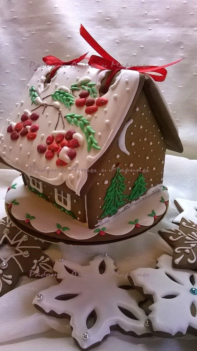 Gingerbread House ♡:  love the use of the ribbons