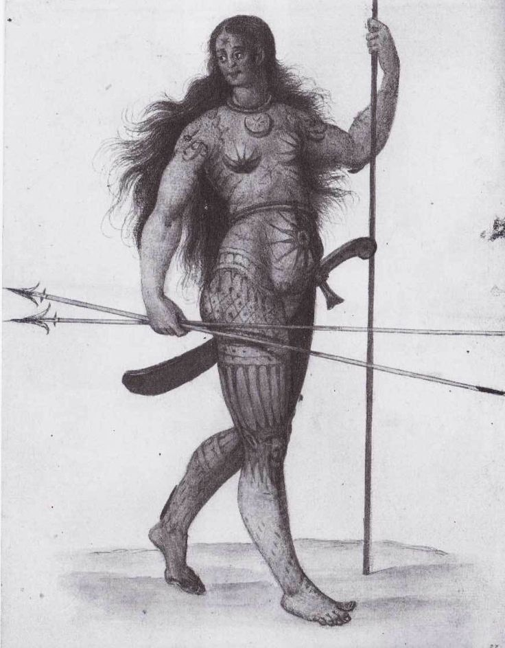 de-moyne-donna-celtica-tatuata-metà-XVI-secolo-stampa-theodor-de-bry