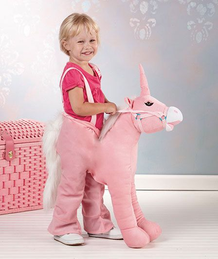 ride on unicorn, step in unicorn, pink