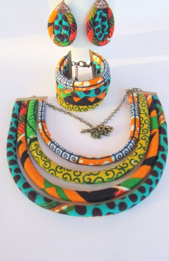 African jewelry set / ethnic jewelry set / African por nad205