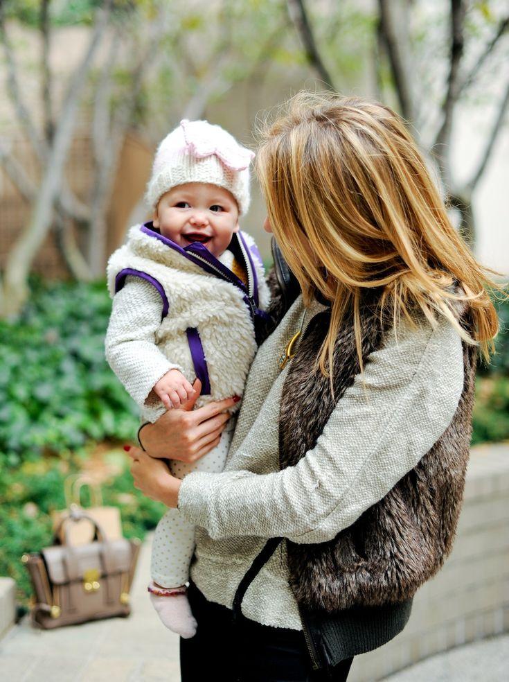 Mommy + Baby Vest Trend {Patagonia Baby + Fur Vest}
