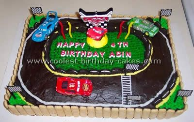 Coolest Race Track Cakes Party Ideas Race Track Cake