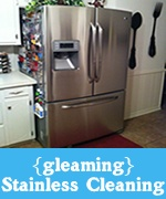 e-cloth specialty microfiber to clean and polish stainless steel appliances with just water. No chemicals required.