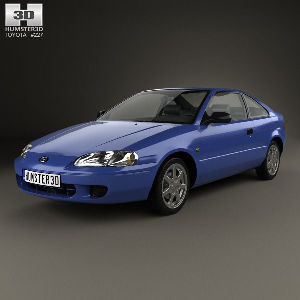 Toyota Paseo 1995 3d model from humster3d.com